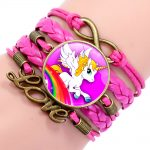 BRACELET LICORNE ROSE OR LOVE