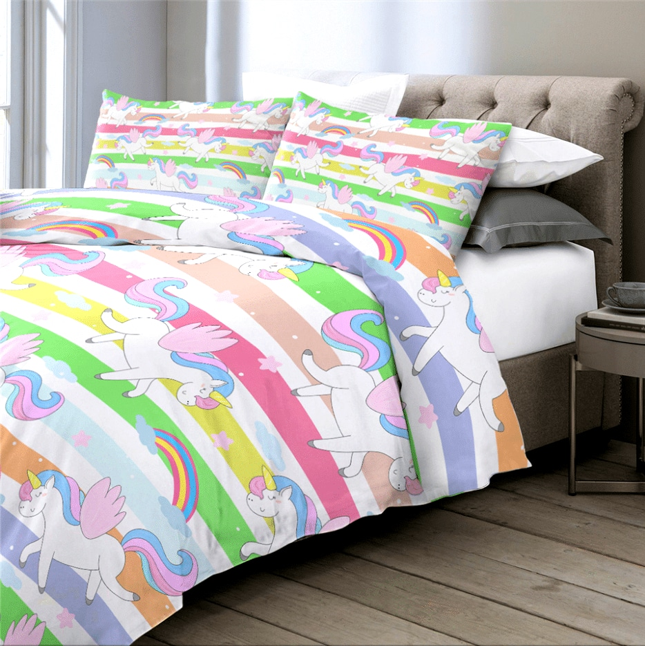 HOUSSE COUETTE LICORNE ROSE TOYS N2