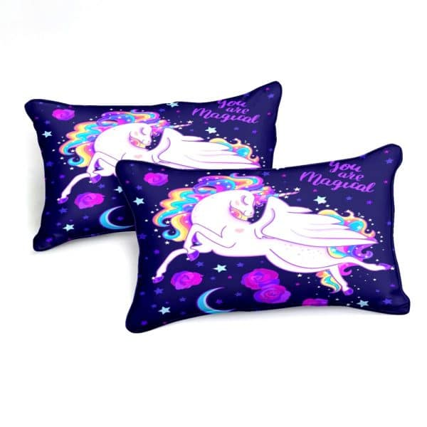 HOUSSE COUETTE LICORNE PETITE FILLE N5 TAIES OREILLER