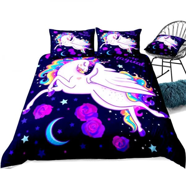 HOUSSE COUETTE LICORNE PETITE FILLE N5