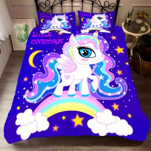 HOUSSE COUETTE MOTIF LICORNE N-2