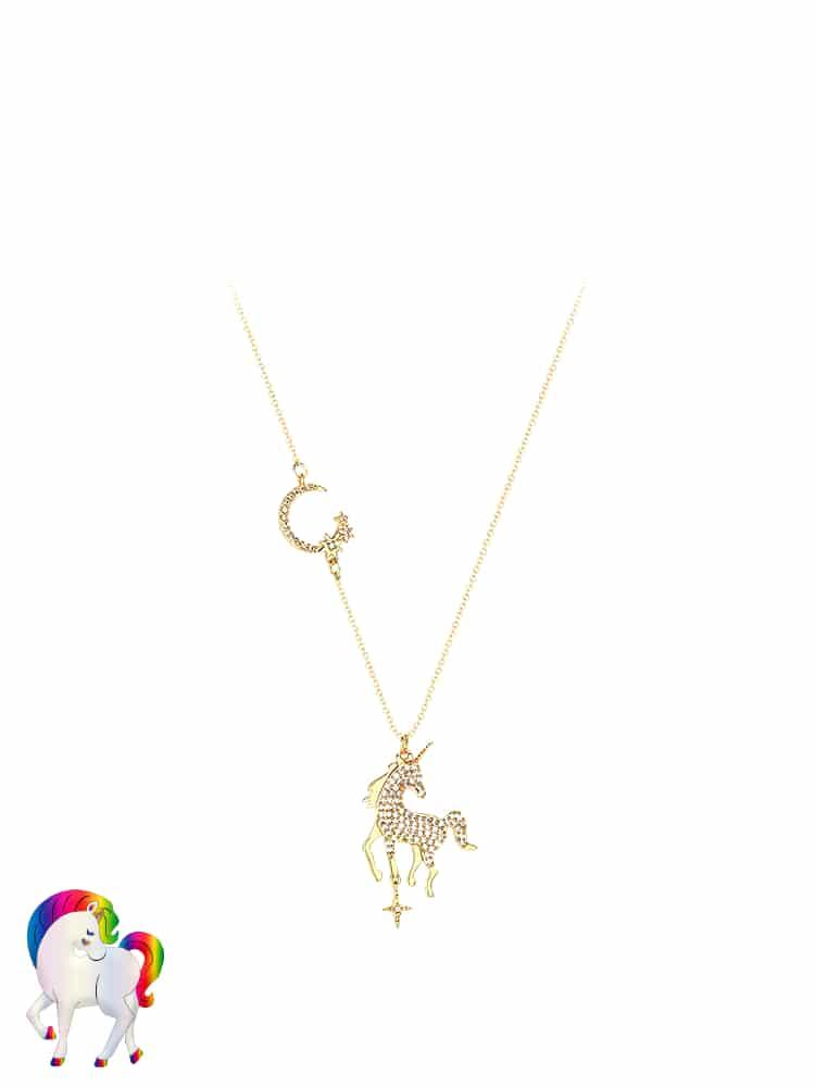 Collier licorne étoile lune