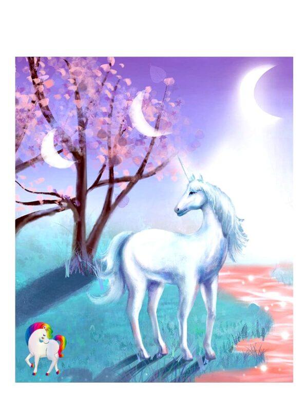 Image d'une licorne étoile lune